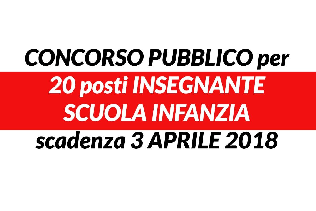 Pubblicato in Gazzetta Ufficiale – Serie Concorsi n. 18 del 2 Marzo 2018, il bando di concorso per 20 Insegnanti Scuola Infanzia – categoria C, posizione economica C.1 presso il Comune di Genova.
